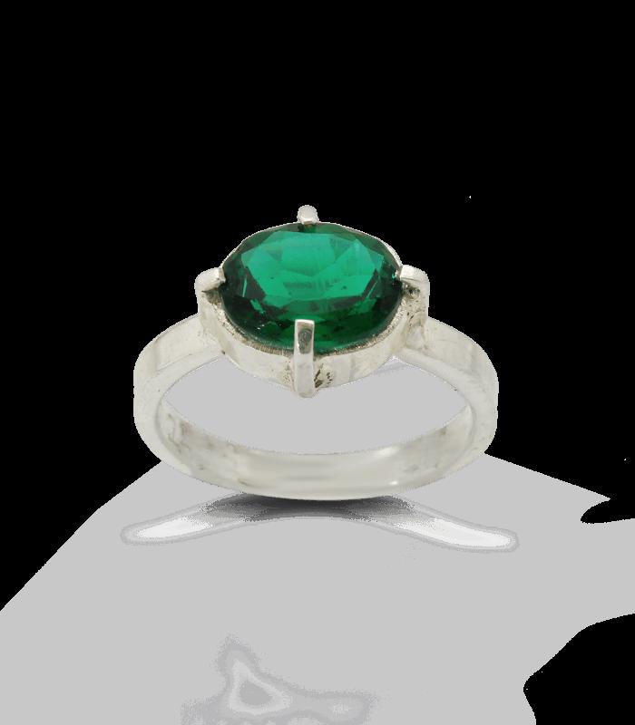 انگشتر دست ساز نقره زنانه پریفام