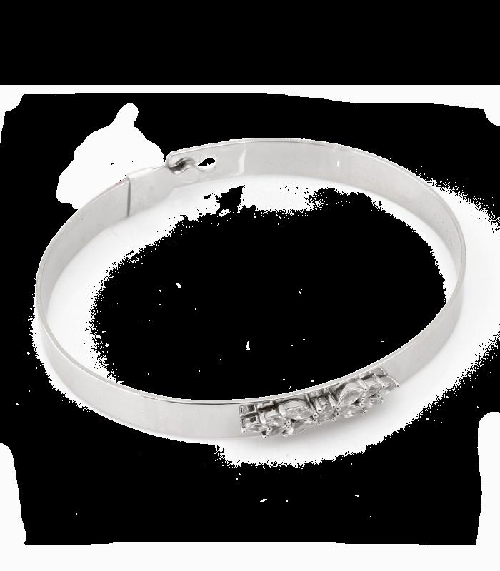 دستبند نقره زنانه ایتالیا نگین باگت