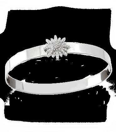 دستبند نقره زنانه ایتالیا طرح گل