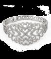 دستبند نقره زنانه ایتالیا سلطنتی پرنگین