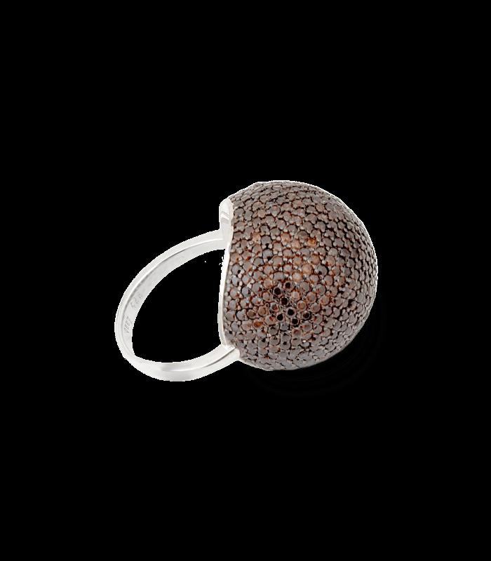 انگشتر نقره زنانه توپی پرنگین زاب