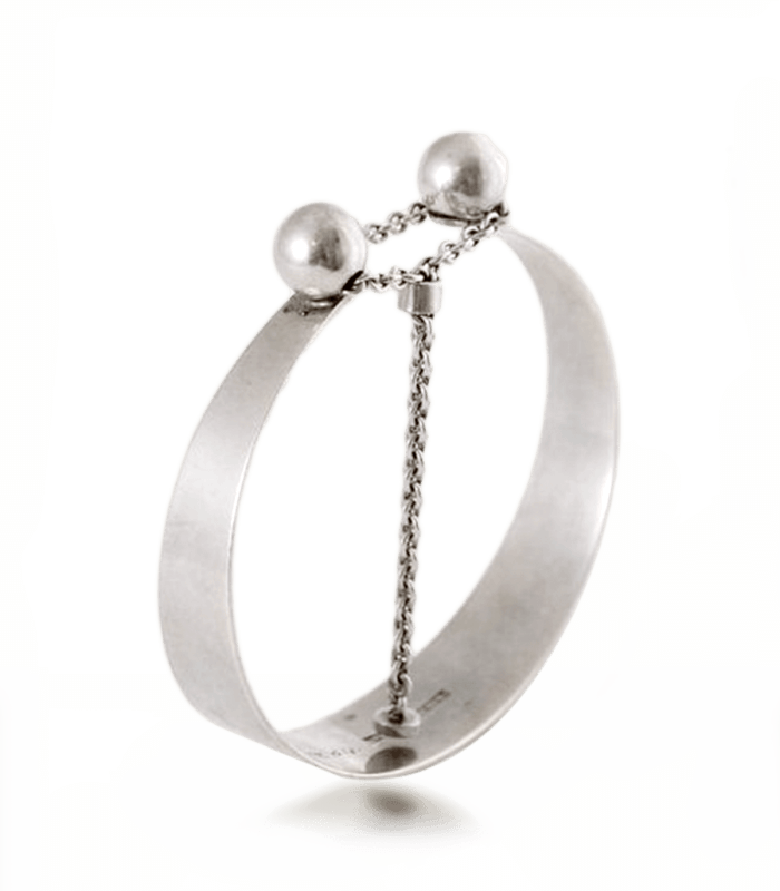 دستبند دست ساز نقره زنانه چیستا