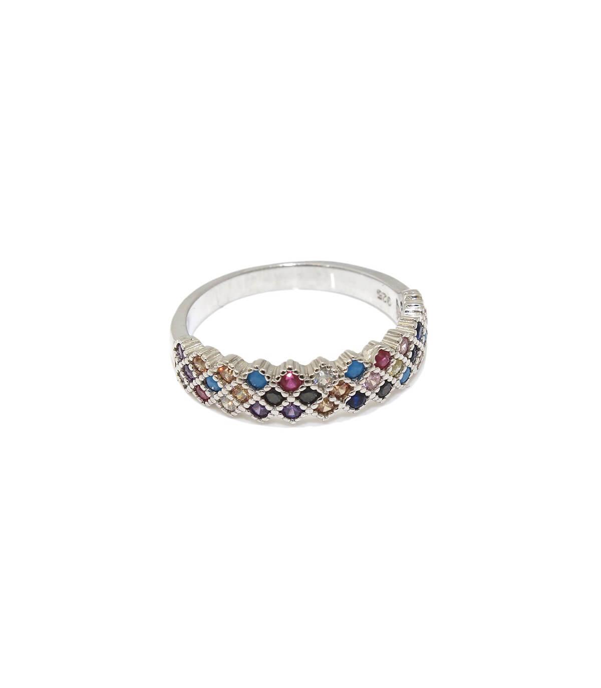 انگشتر نقره زنانه ایتالیا پرنسس
