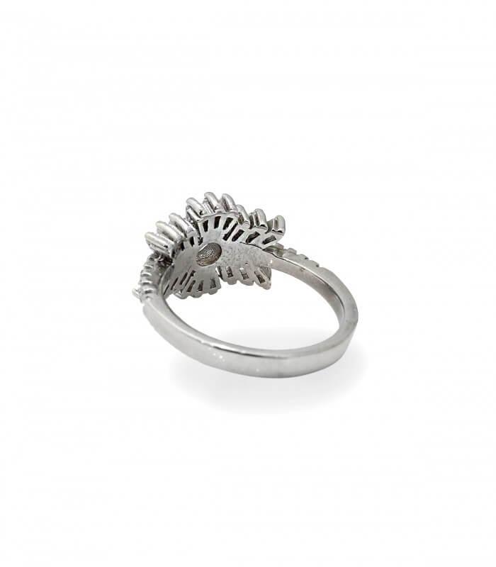 انگشتر نقره زنانه ایتالیا نگین باگت