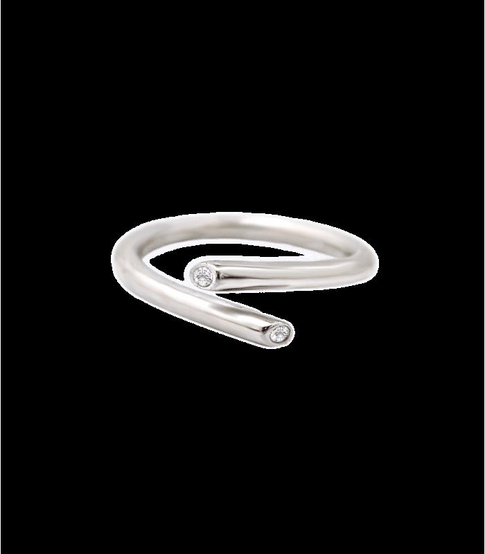 حلقه نقره زنانه فری سایز تک نگین اتمی