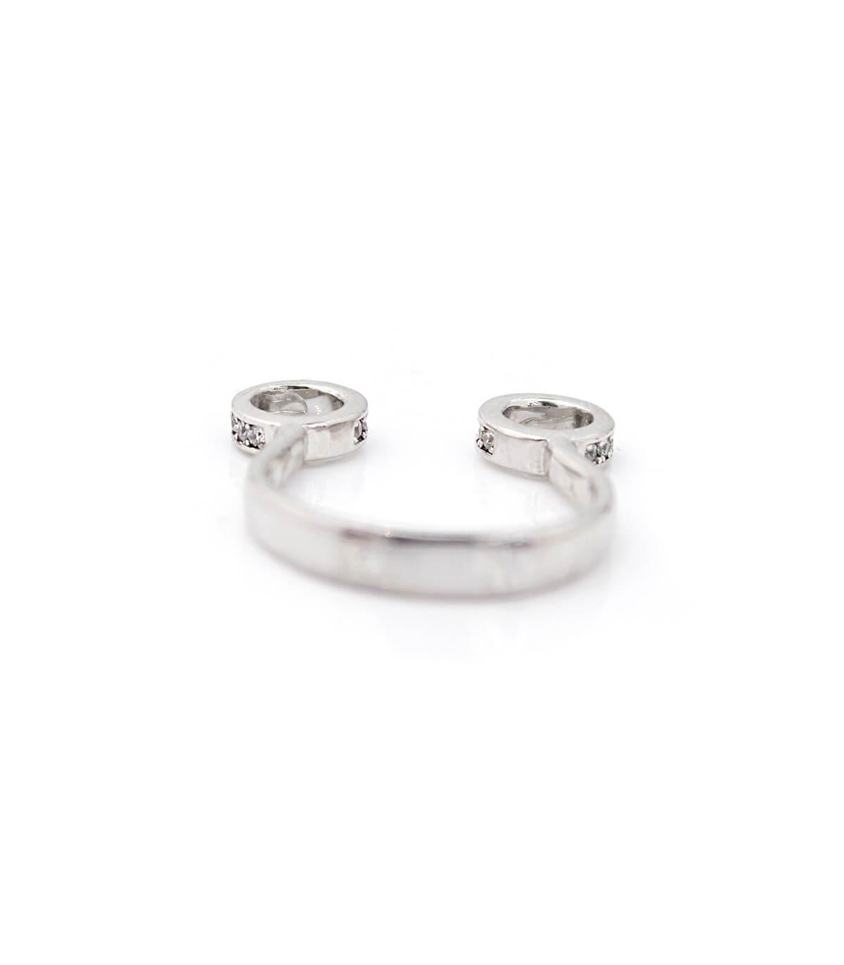 حلقه نقره زنانه فری سایز نگین اتمی