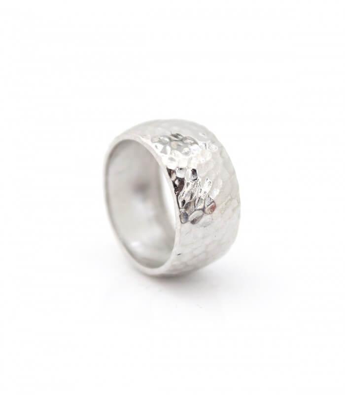 حلقه چکشی نقره زنانه تک سایز بدون نگین